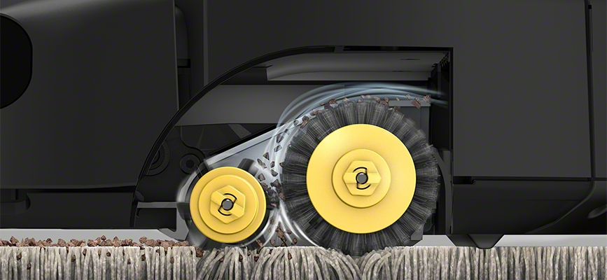 Roller Brushes close up on iRobots Roomba 600 Series