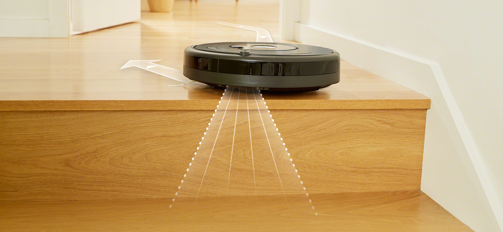 iRobot's Roomba 600 series using dirt detect feature
