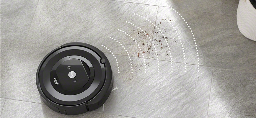 iRobot's Roomba e5 using dirt detect feature