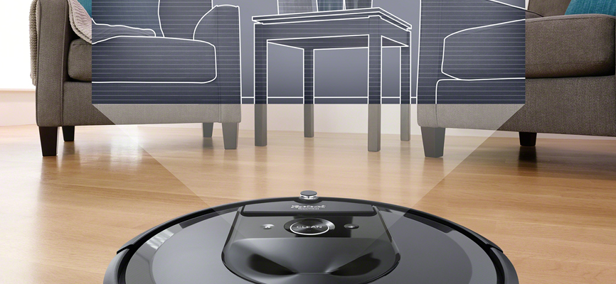 iRobot's Roomba i7 using VSLAM navigation