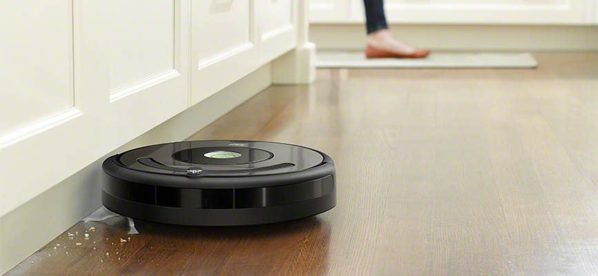 iRobot's 600 Series Roomba using side sweeping brushes