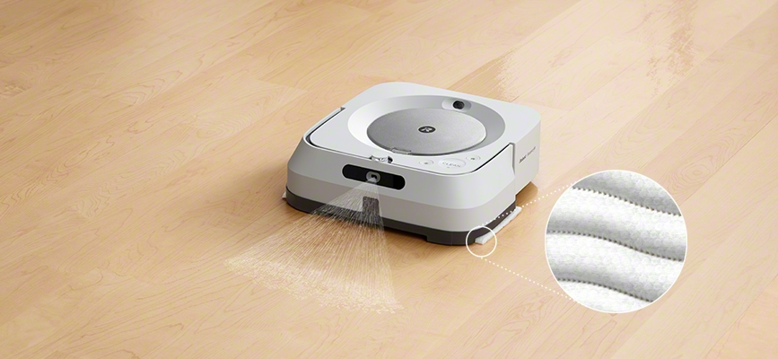 iRobot's braava with advanced pad system