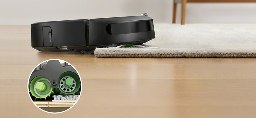 iRobot's Roomba i7 multi-surface rubber brushes