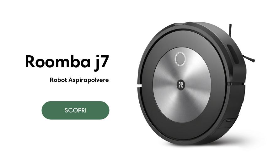 Scopri iRobot Roomba j7 e j7+