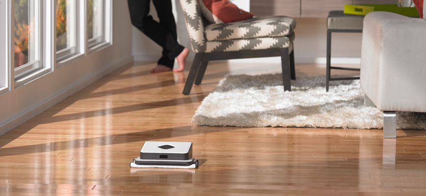 iRobot's Braava 300 series navigating house