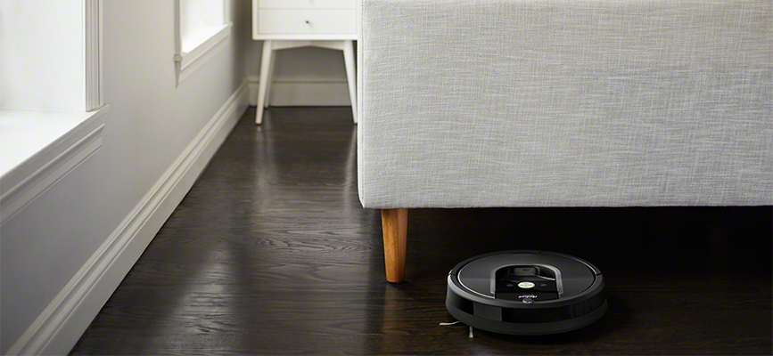 iRobot's Roomba 900 series navigating under couch