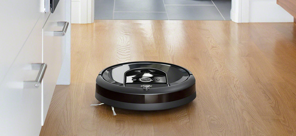 iRobot Roomba i7 on the floor