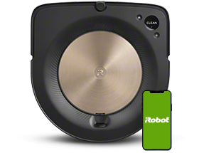 iRobot's roomba s9 with mobile phone