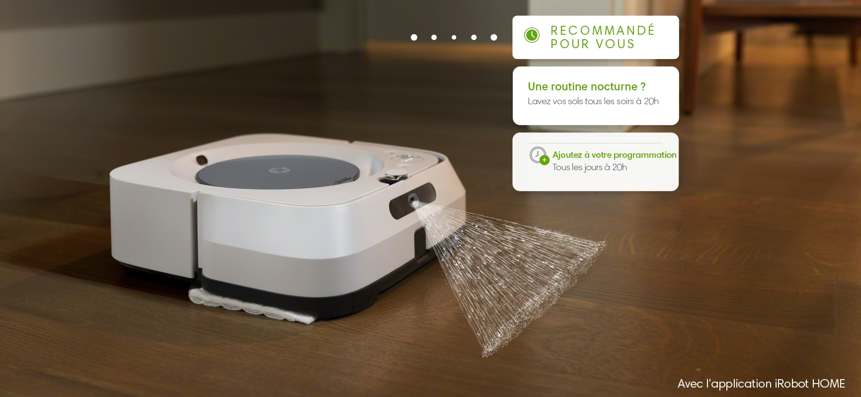 iRobot's m6 braava cleaning under couch