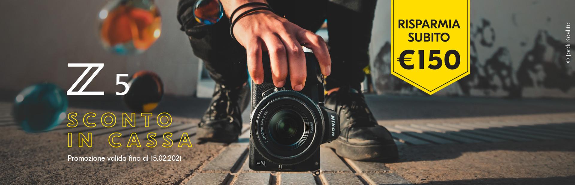 Sconto in cassa di 150 € su Nikon Z5 per Febbraio 2021.