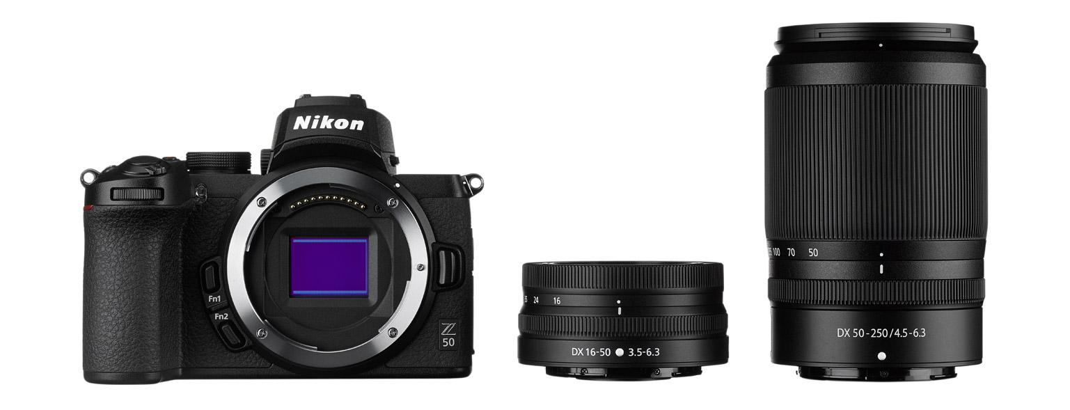 Nikon Z 50 e obiettivi NIKKOR Z in formato DX